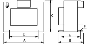 Single-phase security isolating transformer sketch